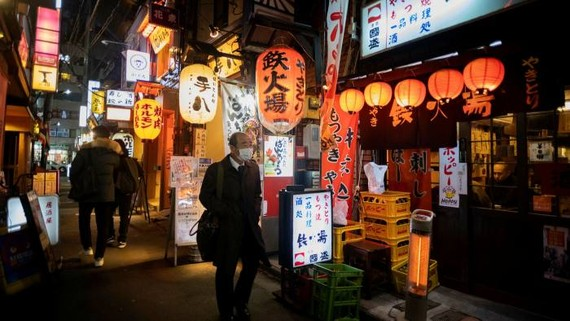 A street in Tokyo. Underlying the tension between Japan and South Korea is a dispute over forced labour during the second world war © Hiro Komae/AP