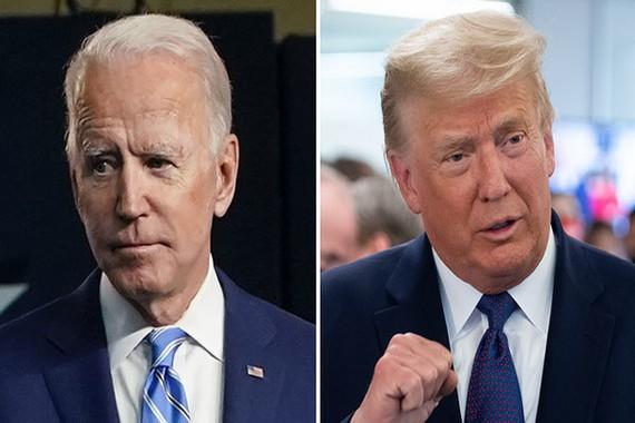 Tổng thống Joe Biden và người tiền nhiệm. Ảnh: The Hill