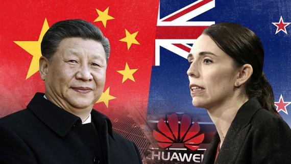 Chủ tịch Trung Quốc Tập Cận Bình và Thủ tướng New Zealand Jacinda Ardern. Ảnh:CNN