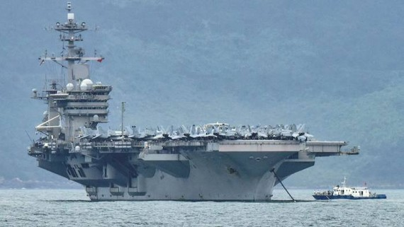 The USS Theodore Roosevelt was leading a group of US Navy vessels in the area © Reuters