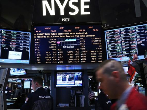 Sàn giao dịch chứng khoán New York. Ảnh:Spencer Platt/Getty Images