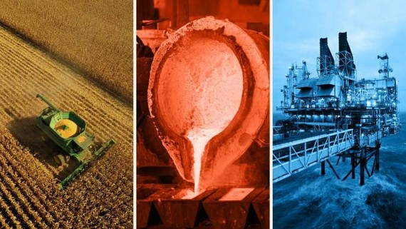 Prices for corn, copper and oil are all up in 2021 © Getty Images; Bloomberg