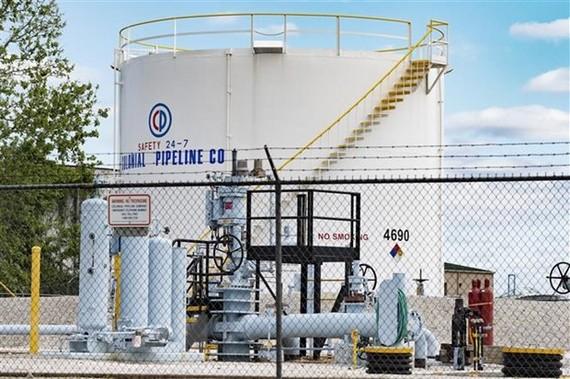 Các bể chứa nhiên liệu của Công ty Colonial Pipeline ở Baltimore, bang Maryland, Mỹ. (Ảnh: AFP/TTXVN)