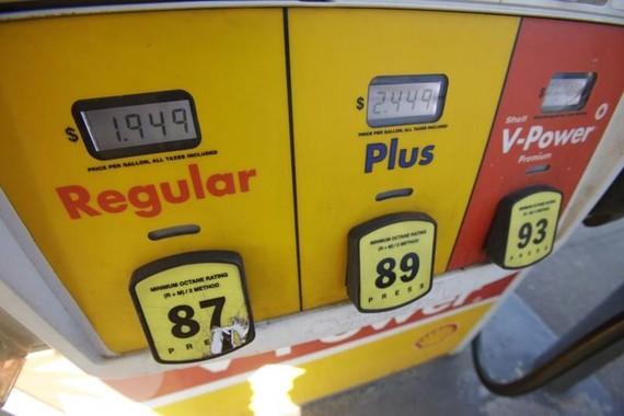 Một trạm bán lẻ xăng ở Mỹ - Ảnh: Bloomberg.