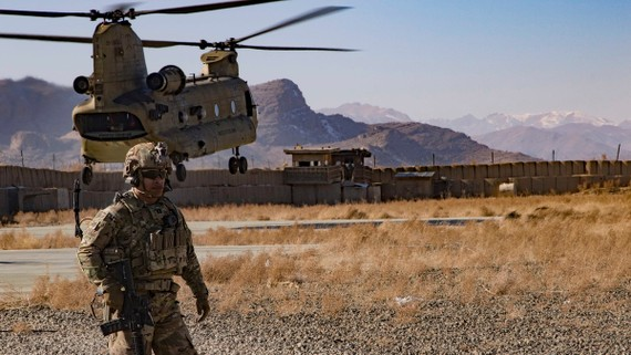 Đại úy Lục quân Hoa Kỳ Bradley D. Rager vào 14-12-2019, ở phía đông nam Afghanistan. (Ảnh: Thượng sĩ Alejandro Licea)
