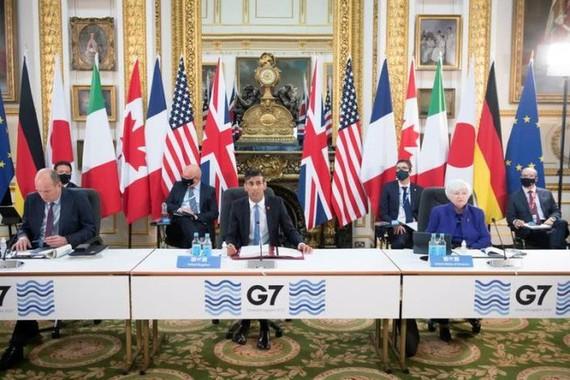 Các Bộ trưởng tài chính G7 trong cuộc họp ở Anh