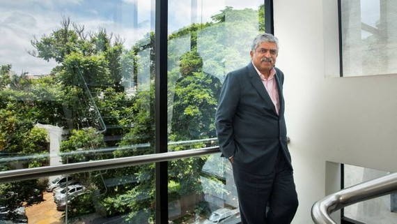 Nandan Nilekani, co-founder and chair of Infosys, has worked with Indian authorities on digital policy, including the Aadhaar biometric identity programme © @Jyothy Karat,2018.All rights reserved
