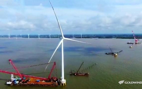 Goldwind offshore turbine, Vietnam. Image by Goldwind.