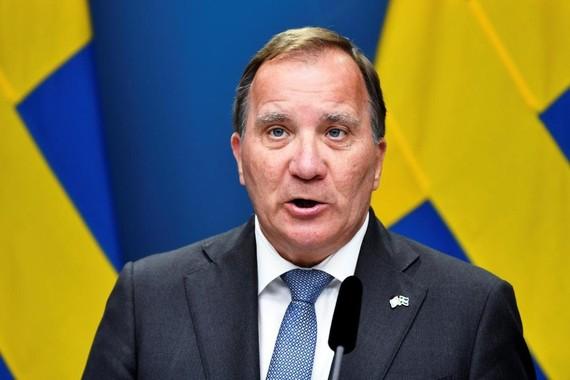 Thủ tướng Thụy Điển Stefan Lofven. Ảnh: Reuters