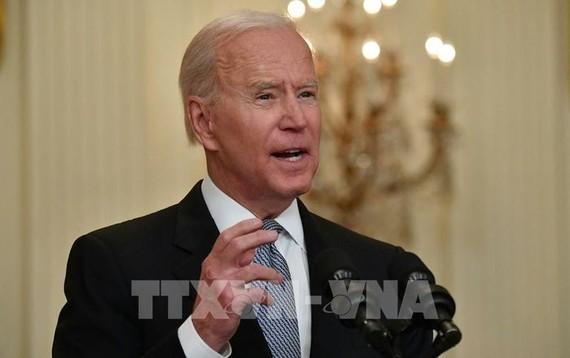Tổng thống Mỹ Joe Biden phát biểu tại Nhà Trắng, ngày 17/5/2021. Ảnh: AFP/ TTXVN