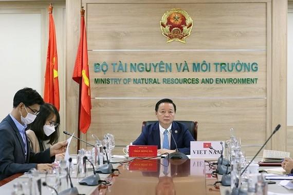 Vietnamese Minister of Natural Resources and Environment Tran Hong Ha. (Photo: baotainguyenmoitruong.vn)