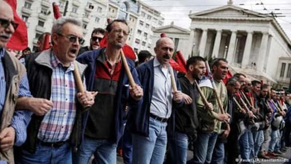 Đình công ở Hy Lạp. Ảnh: Reuters