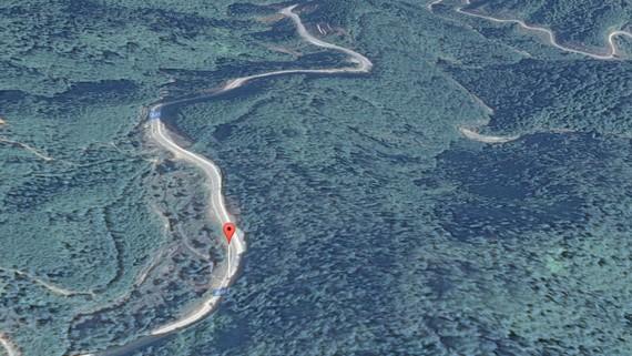 Quốc lộ 49 - nơi xảy ra sự cố sạt lở. Ảnh: Google Map