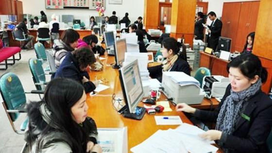 Lao động nữ tại một ngân hàng