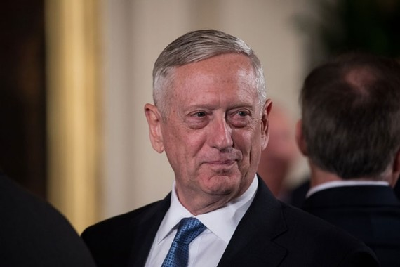 Bộ trưởng Quốc phòng Mỹ James Mattis. (Nguồn: Getty Images)