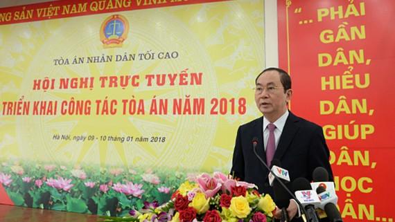 Chủ tịch nước Trần Đại Quang phát biểu chỉ đạo Hội nghị