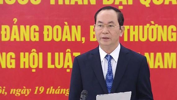 Chủ tịch nước Trần Đại Quang phát biểu tại buổi làm việc