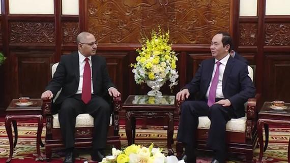 Chủ tịch nước Trần Đại Quang đã tiếp Đại sứ Ai Cập Youssef Kamal Boutros Hana