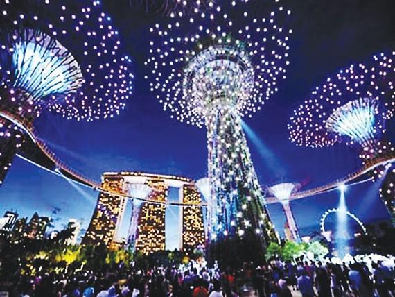 Lượng du khách đến Singapore tăng mạnh