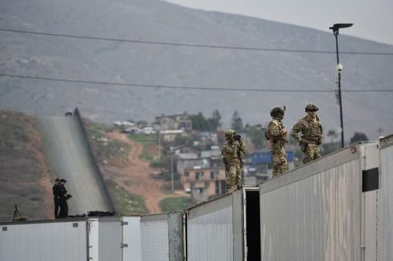 Binh sĩ Mỹ được triển khai bảo vệ biên giới với Mexico