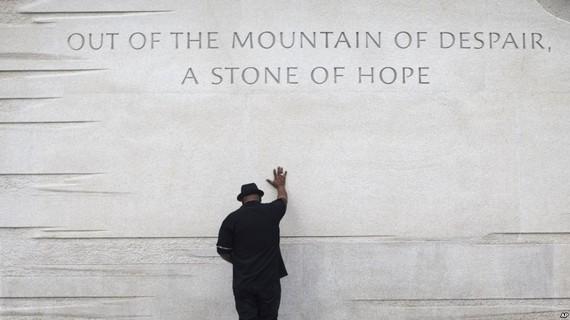 Đài tưởng niệm Martin Luther King Jr tại Washington. (Nguồn: AP)