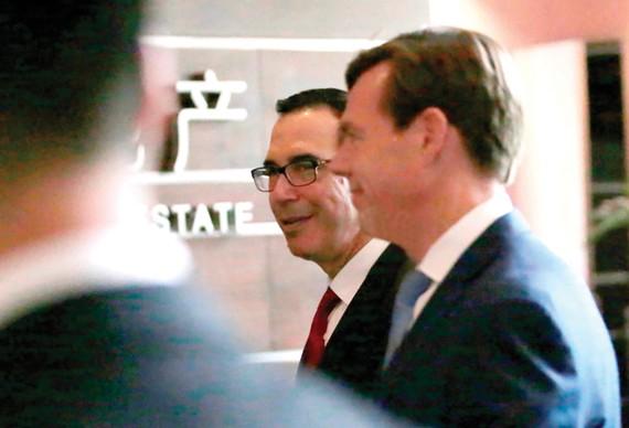 Bộ trưởng Tài chính Mỹ Steven Mnuchin đến Bắc Kinh