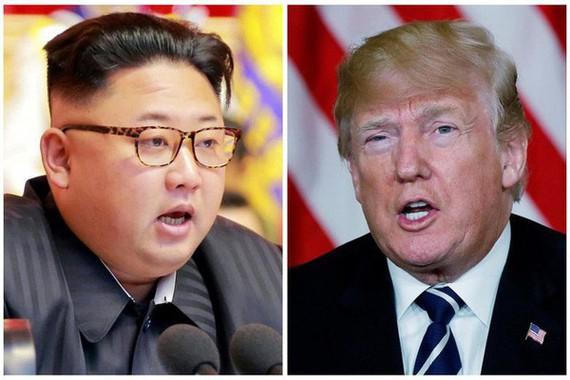 Tổng thống Mỹ Donald Trump và nhà lãnh đạo Triều Tiên Kim Jong-un. (Ảnh: Reuters)