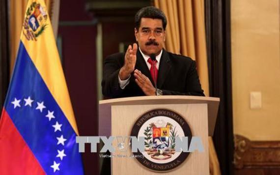Tổng thống Venezuela Nicolas Maduro phát biểu tại Caracas ngày 4/8. Ảnh: THX/TTXVNTổng thống Venezuela Nicolas Maduro phát biểu tại Caracas ngày 4/8. Ảnh: THX/TTXVNTổng thống Venezuela Nicolas Maduro phát biểu tại Caracas ngày 4/8. Ảnh: THX/TTXVN