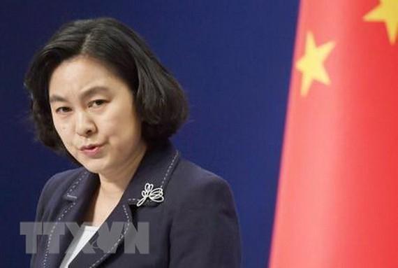 Người phát ngôn Bộ Ngoại giao Trung Quốc Hoa Xuân Oánh. (Nguồn: Kyodo/TTXVN)