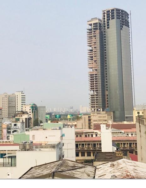 Dự án Sài Gòn One Tower tại quận 1, TPHCM, đang được đưa ra đấu giá  Ảnh: HUY ANH
