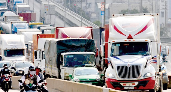 TPHCM sẽ tiến hành kiểm tra tài xế ô tô các loại, đặc biệt là tài xế xe container trên toàn địa bàn       Ảnh: THÀNH TRÍ