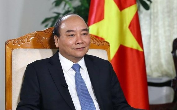 Thủ tướng Chính phủ Nguyễn Xuân Phúc trả lời phỏng vấn TTXVN. Ảnh: TTXVN