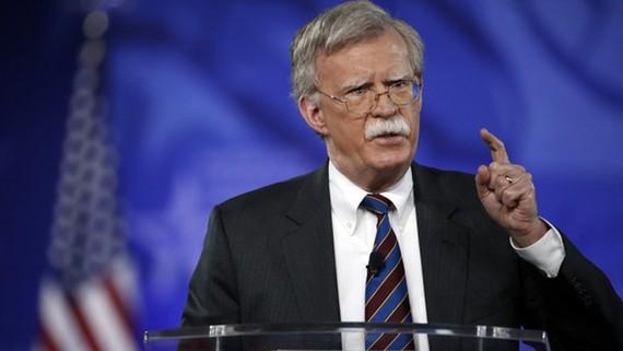 Cố vấn an ninh quốc gia Mỹ John Bolton (Ảnh: AP)