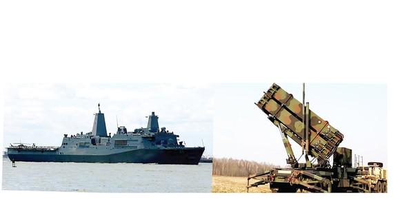 Tàu đổ bộ USS Arlington và hệ thống phòng thủ tên lửa Patriot