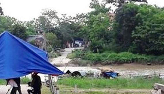 Hiện trường nơi xảy ra vụ đuối nước