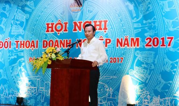 Bí thư Thành ủy TP Đà Nẵng Nguyễn Xuân Anh phát biểu khai mạc buổi đối thoại.
