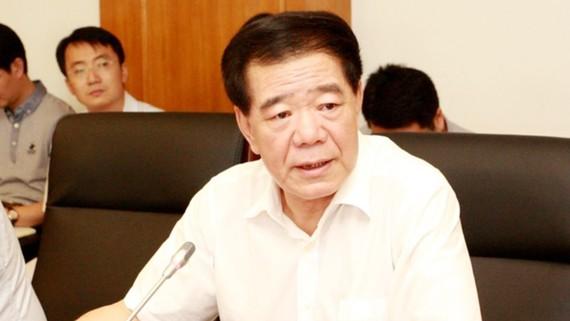 Mo Jiancheng phát biểu tại một cuộc họp của Bộ Tài chính Trung Quốc ngày 18-8-2017 tại Bắc Kinh. Ảnh: CMF