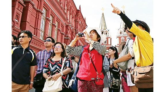 Du khách Trung Quốc tại Nga