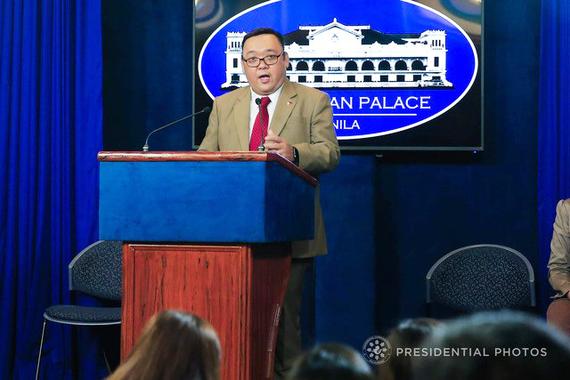 Người phát ngôn Phủ Tổng thống Philippines Harry Roque.Ảnh: rappler.com