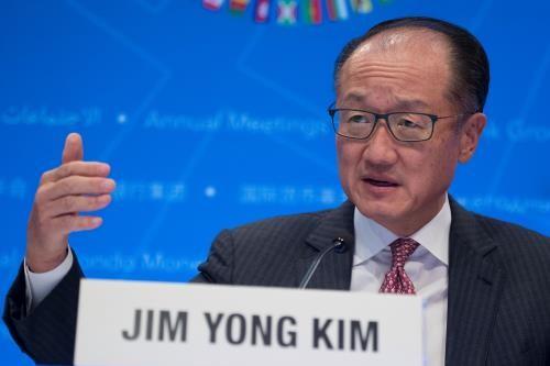 Chủ tịch Ngân hàng thế giới Jim Yong Kim. Ảnh: THX