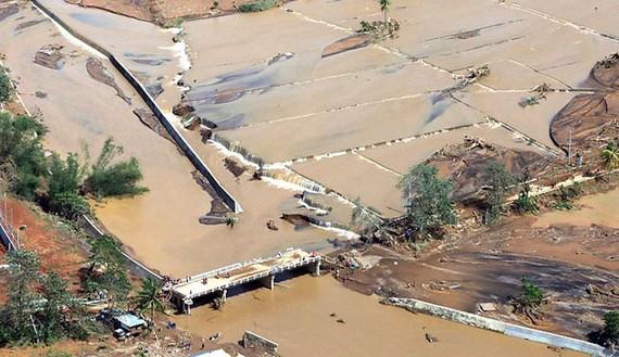 Bão Tembin gây lũ lụt, sạt lở nghiêm trọng tại Philippines
