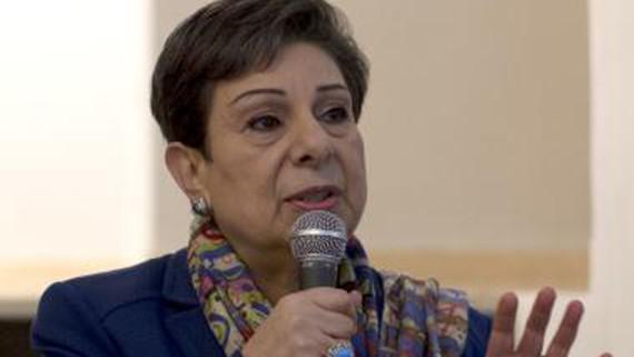 Bà Hanan Ashrawi phát biểu tại Jerusalem. Ảnh: TTXVN