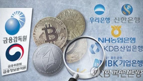 Các cơ quan quản lý tài chính kiểm tra giao dịch tiền ảo tại 6 ngân hàng lớn Hàn Quốc, gồm Woori, Kookmin, Shinhan, NongHyup, IBK và KDB. Ảnh YONHAP