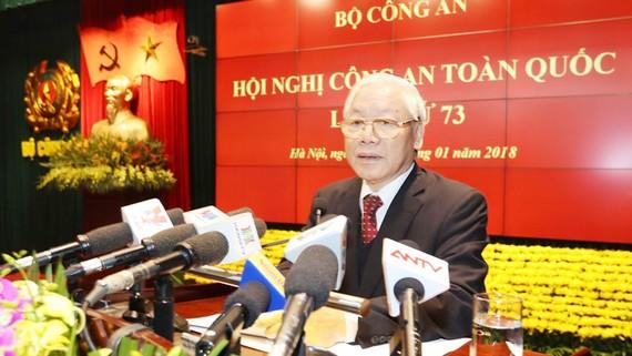 Tổng Bí thư Nguyễn Phú Trọng phát biểu tại Hội nghị Công an toàn quốc lần thứ 73