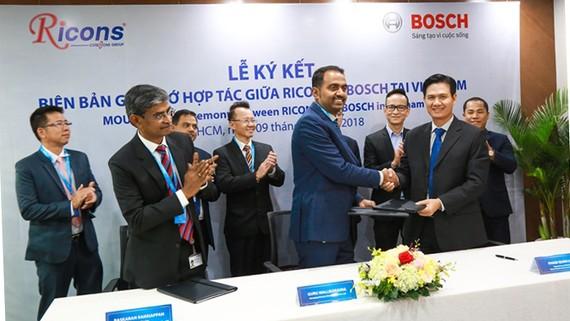 Bosch Việt Nam và Công ty Cổ Phần Đầu tư Xây dựng Ricons vừa ký biên bản ghi nhớ hợp tác toàn diện