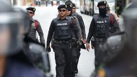 Lực lượng cảnh sát Thái Lan. Ảnh: AP