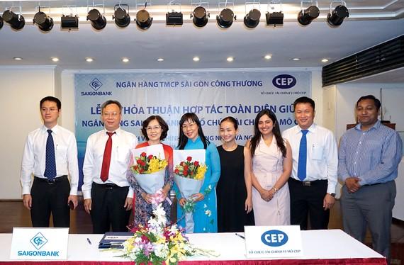 SaigonBank ký kết thỏa thuận hợp tác toàn diện các dịch vụ tài chính với Tổ chức tài chính vi mô - CEP