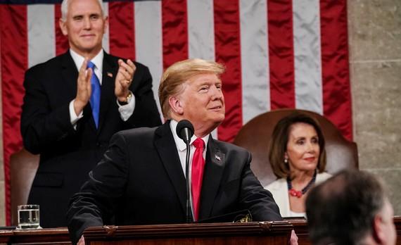 Tổng thống Mỹ Donald Trump đọc thông điệp liên bang trước Quốc hội