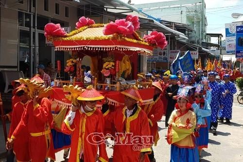Phần chính lễ Nghinh Ông được tổ chức ngày 20-3. Ảnh: Báo Cà Mau