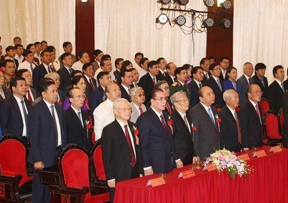 Các đại biểu dự lễ kỷ niệm. Ảnh TTXVN